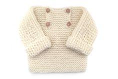 Jersey de bebé de punto bobo - Natural Baby - Creativa Atelier