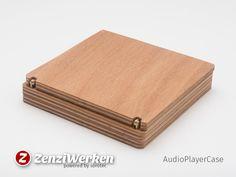 ZenziWerken | Holz-Etui für MP3-Player mit Minischarnieren