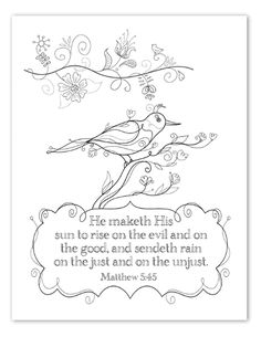 His Mercies are New Every Morning coloring page by