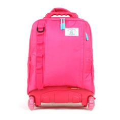 NEW Wheelpak Cruze Rolling Wheeled Backpack Travel Bag Kids School Bookbag/ Pink