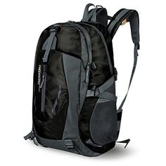 Water Resistant Sports Backpack Lightweight School Bag for Travel Hiking Climbing Camping Mountainneering Daypack Unisex Size 11.8''x 8.6''x 20.4'' (Black) - This backpack is suitable for men, women, it is a huge backpack, made of waterproof nylon fabric, anti-Scratch, the surface is not easy to stick to dust, easy to take care of. Whether it's outdoor sports or street leisure, this bag is your faithful companion, which will accompany you on a wide ra...