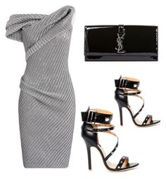 Alejandra G. Spencer Black by alejandragshoes on Polyvore featuring polyvore, fashion, style, Maticevski and Yves Saint Laurent