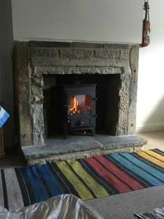 Clearview multi fuel stove we recently installed in Huddersfield. These are a really good quality British made stove.