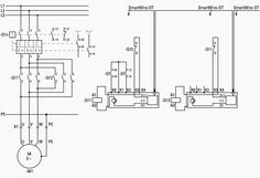 a hardwired relay circuit and b wiring diagram of a reduced rh pinterest com