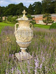 Garden urn.