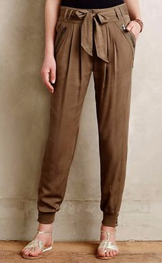 Button-Cuff Joggers #anthrofave