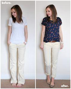 Merricks Art: Wide Leg Trouser Refashion (Tutorial) I LIKE THE TOP'S PATTERN