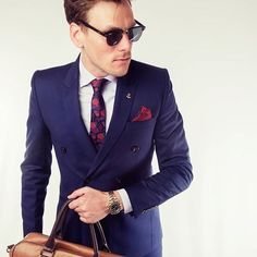 PIETER PETROS    NAVY I    Success is inevitable when you are focused and confident. Don't let you attire hold back your ability to excel. #Navy1, a very tony double-breasted suit, will be your personal confidence booster.
