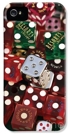Casino Dice iPhone and Galaxy Case by John Rizzuto