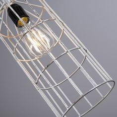 Lámpara colgante FRAME Luxe D plateada #interiorismo #decoracion #luz
