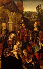 Nativity Art - The Adoration of the Kings  by Neapolitan School