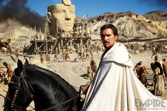 First official image of #ChristianBale in Ridley Scott's biblical epic Exodus