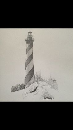 Lighthouse drawing by Nicole Marilyn 2013