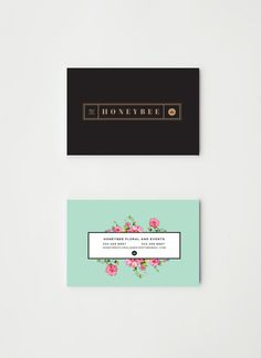 branding by Christina Cagle for Honeybee Floral and Events