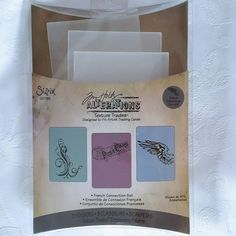 Sizzix Tim Holtz Embossing Folders French Connection Set Scrapbook 657192 #TimHoltz #Sizzix