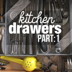 I organized some of my kitchen drawers!