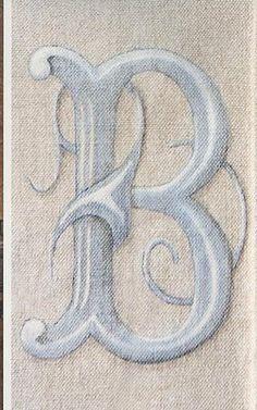 Hand-painted monogram