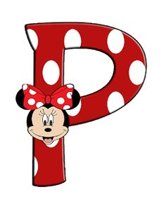 Minnie Png, Mickey Mouse Birthday, Minnie Mouse Party, Mickey Minnie Mouse, Alphabet Letters Design, Monogram Alphabet, Alphabet And Numbers, Minnie Mouse Background, Mickey Mouse Letters