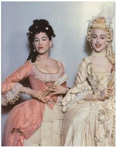 baroque fashion 18th century. love the wigs/ the hair! and fan accessories
