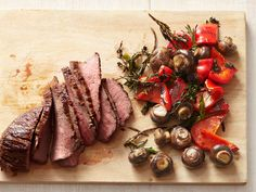 Tri-Tip Steak With Mushrooms and Peppers recipe from Food Network Kitchen via Food Network