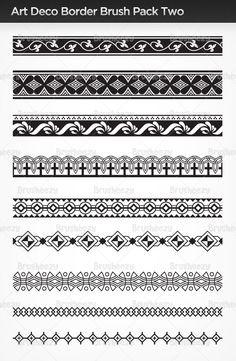 Art Deco border set. Inspiration for mosaic borders