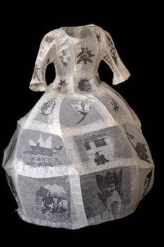 LYNN DENNISON - Self-Portrait, 2008 - Paper dress