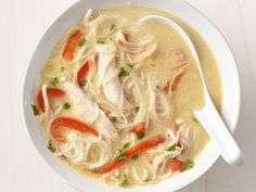 Thai Chicken Soup- for a soup that takes about 15 Minutes to make I would give it two thumbs up. It had great flavor and one out of my two kids really liked it (which says a lot). If not cooking for kids I would give it a little spice with some red pepper flakes. (Christen)