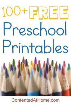 An awesome list of the very best FREE preschool printables for #homeschool!