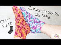 Easy Peasy Socken - Häkeln Ohne Ferse |Schnell | Einfach | für Anfänger - YouTube