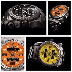 BREITLING EMERGENCY II:The world's first wristwatch with a dual frequency locator beacon. #Breitling