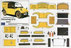 Hanomag 2/10 ADAC Papiermodell Baubogen Karton paper model cut out kit Scholz