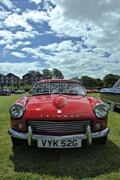 Triumph Spitfire at Woodvale Rally, Southport.