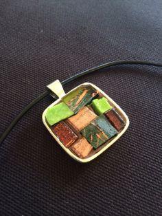 Mosaic art pendant with necklace by NancyKlineMosaics on Etsy, $30.00
