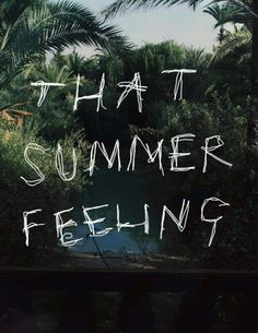 that summer feeling