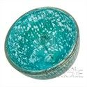 """Small Turquoise Blue Mercury Glass Floating Candle Holders (silver accented) 2.25"""" 2/80"""