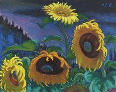 Sonnenblumen Painting, Art, Woodblock Print, Sunflowers, Watercolor, Landscape, Drawing S, Pictures, Art Background