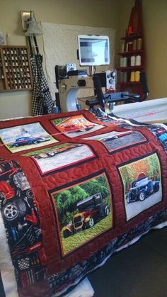 Oliver Tractor Exhibit Quilt Kit Queen Size Quilts