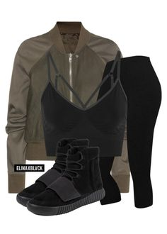 """Untitled #1443"" by elinaxblack ❤ liked on Polyvore featuring Rick Owens, NIKE and adidas"