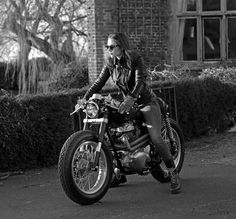 "Cafe Racer ""Merlin"" by Old Empire Motorcycles #motos #motorcycles #caferacer #girls 