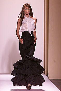 Oscar de la Renta Fall 2001 Ready-to-Wear Fashion Show - Oscar de la Renta, Fabiane Nunes
