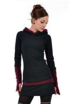 3 Elfen Women's Hoodie Black With Gauntlets XL Berry 3 Elfen,http://www.amazon.com/dp/B00AKJN4PE/ref=cm_sw_r_pi_dp_gHrntb1ZX3RHHEWB