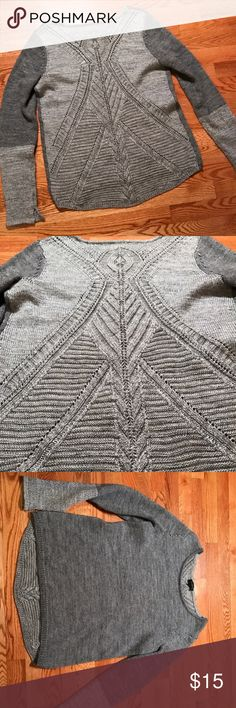 The Limited sweated Color block gray sweater, high-low style. Beautiful detailing on the back. Only worn a few times, in great condition! Size medium. The Limited Sweaters