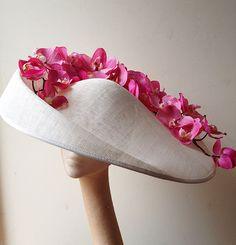 Large Orchid Saucer | Beth Hirst - Couture #Millinery #royalascot