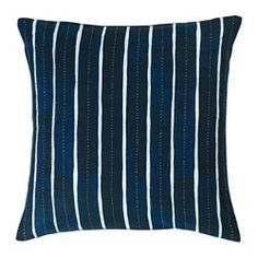IKEA INNEHÅLLSRIK Cushion cover Handmade blue/white 50 x 50 cm Each cushion cover is unique since embroidery and stitching is done by hand by skilled artisans in India. Cushion Pads, Cushion Covers, Throw Pillow Covers, Throw Pillows, Ikea Stockholm, Beach Bedding, Twin Comforter Sets, Swedish House, Quality Furniture