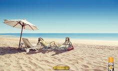 Outdoor advertisement created by Amen, Uruguay for Explorador Mosquito Repellent, within the category: House, Garden. Mosquito Protection, Mosquito Control, Ad Of The World, Advertising, Ads, Patio, Beach, Outdoor Decor, Creativity