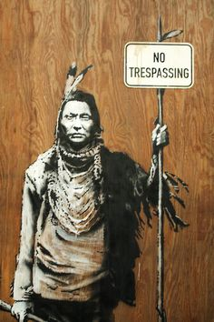 Banksy, no trespassing