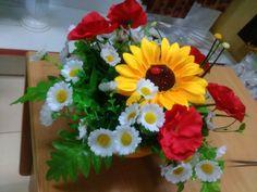 Подсолнухи и ромашки.флористическая композиция.Sunflowers and daisies.the…