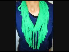 How To: DIY Make A Fringe Scarf Tutorial
