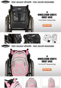 Cool Wheelchair Bags www.WheelchairGear.com. >>> See it. Believe it. Do it. Watch thousands of spinal cord injury videos at SPINALpedia.com