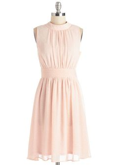 Windy City Dress in Pink Pin Dots, @ModCloth